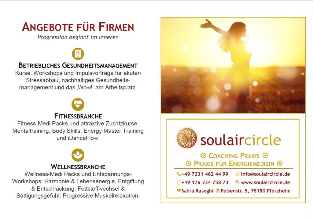 BGM Stuttgart - Portfolio Flyer - soulaircircle Coaching Praxis - 2